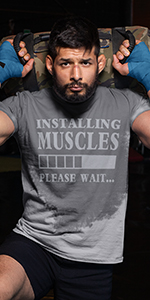 Sweat Activated Shirt With Motivational Message from LeRage Shirt Workout Clothes for the Gym