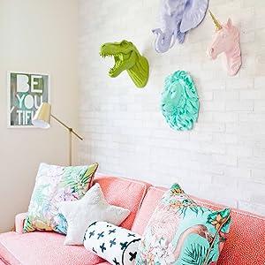 colorful animal wall decor