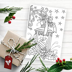 coloring Christmas cards