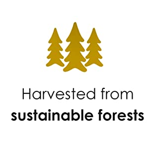 Harvested from sustainable forests