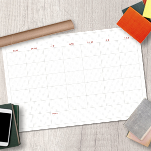 Jumbo Monthly Dry Erase Calendar