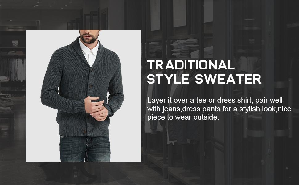 fall winter essentials ideal gifts for father husband boyfriend shawl collar