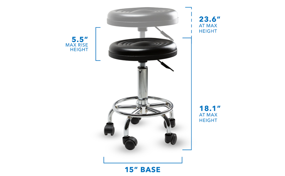 Measurements of rolling stool