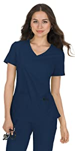 koi Basics 374 Women's Scrub Top Mock Wrap Medical Healthcare Uniforms Fashion