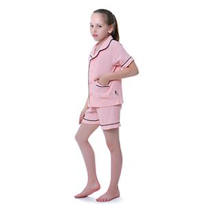 boy girl short pajama set with pockets