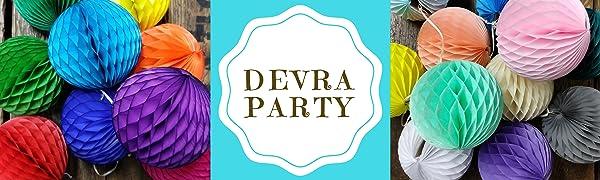 Devra Party Honeycomb Decorations
