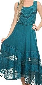 summer swing maxi dress A-line sundress beach cover-up tank dress boho summer beach high-low caftan