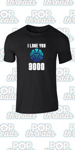 Superhero Movie Comic Book Costume I Love You 3000 Graphic Tee T-Shirt for Men