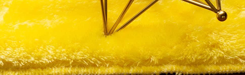 bright yellow rug