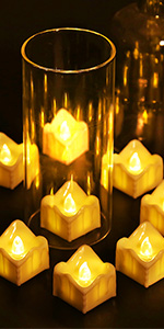 LED drip wax candles
