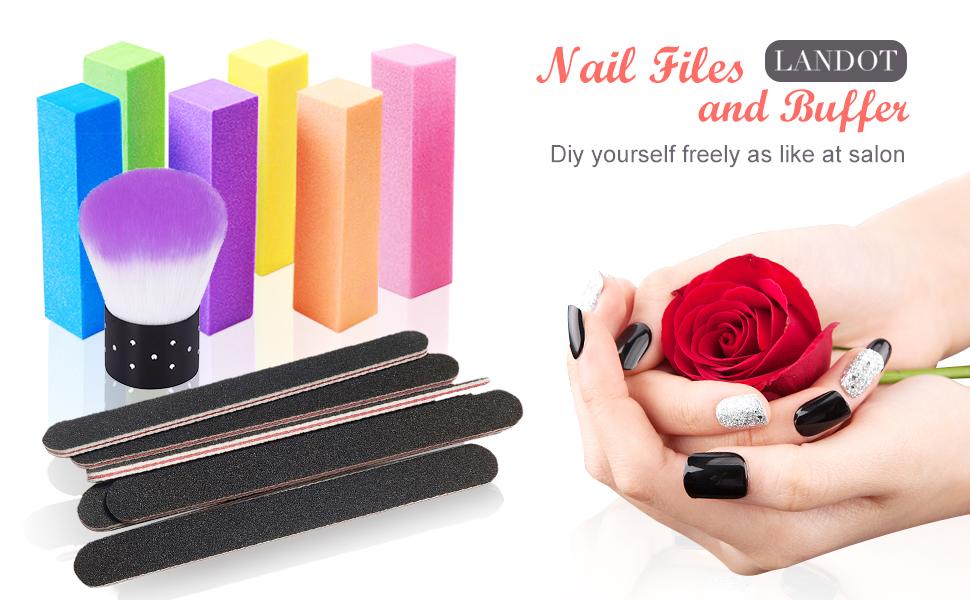 LANDOT Nail Files and Buffer