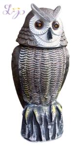 fake owl grey garden pest control protect repel skunk mice bird rodent rat squirrel rabbit sparrow