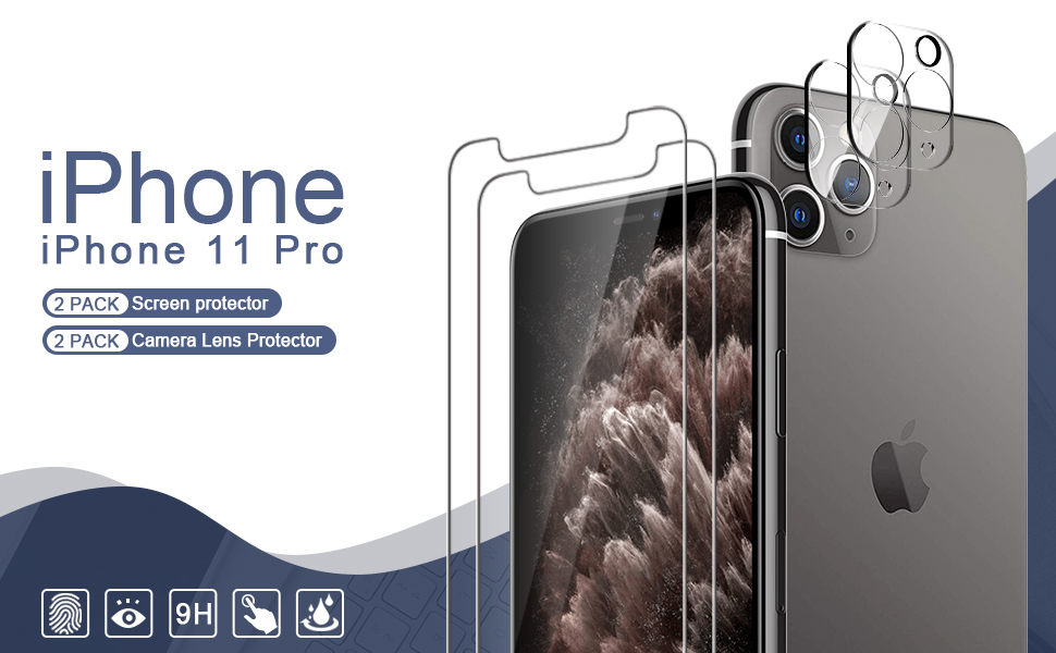 iPhone 11 Pro screen protector and camera lens protector
