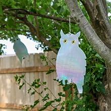 owl bird deterrent tree garden backyard