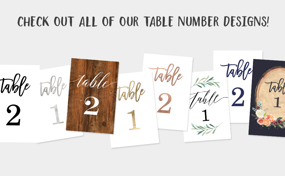 Table No
