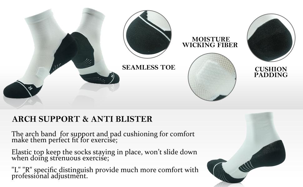 running ankle socks