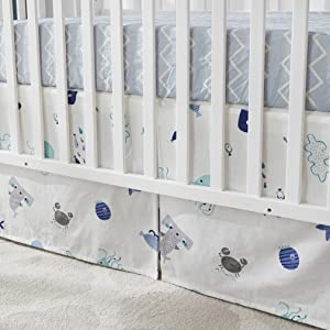 ocean animal crib skirt