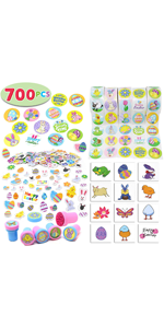 Easter Crafts Assortment Kit with 500 Easter Stickers