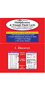 Think2Master Multiplication & Triangle Flash Cards