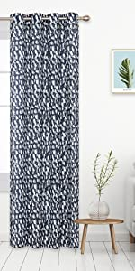 faux linen semi sheer curtains
