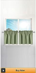 sage green tier curtains
