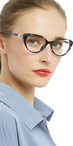 cateye fashion reding glasses comfortable reader for women