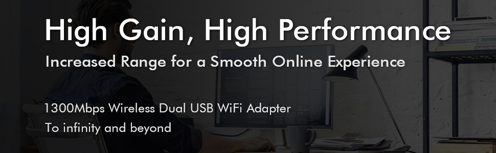 wifi adapter 1300Mbps