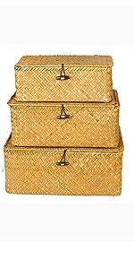 Woven Wicker Storage Bins