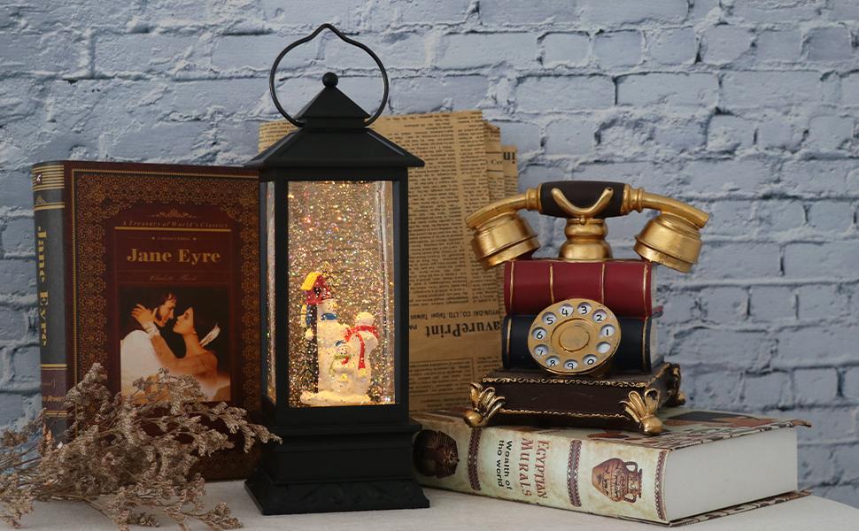 Christmas Music Snow Globe Lantern