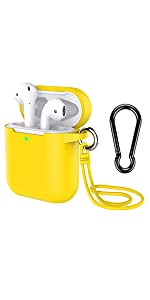 airpod case keychain Yellow