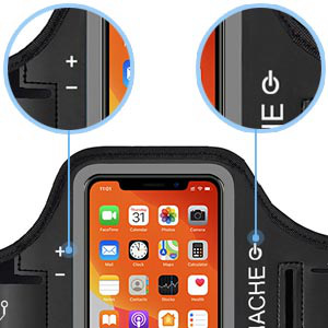 JEMACHE Sports Running Armband for iPhone 11 Pro, iPhone X/XS