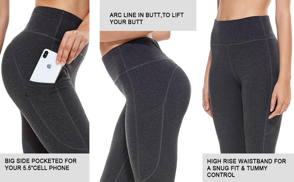 baleaf women yoga pants high rise leggings butt lift pants with pockets