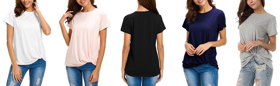 Womens Cotton T-Shirts short sleeve