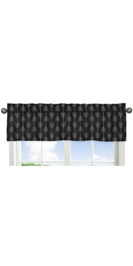 Black and White Woodland Arrow Window Treatment Valance for Rustic Patch Collection