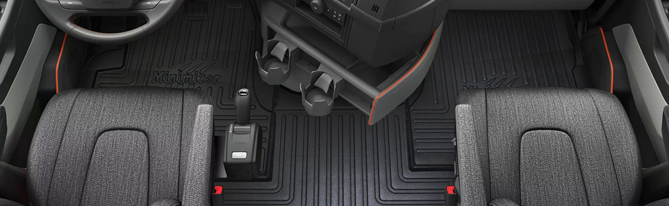 minimizer custom molded floor mats peterbilt cascadia mack volvo