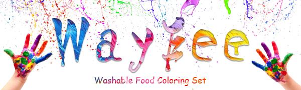food coloring dye color liquid set white black red pink brown green blue purple orange yellow paint