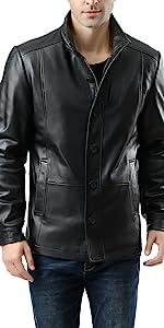 BGSD Men's Brady New Zealand Lambskin Leather City Jacket