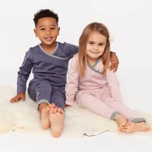 Merino Kids pajamas thermals