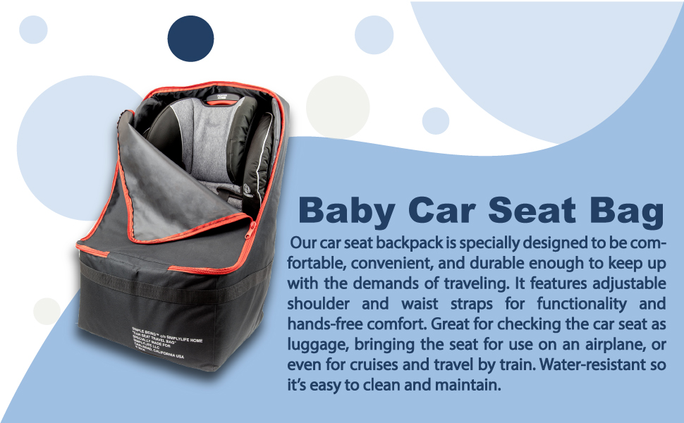 carseat covers babies car seat travel bag cover baby carrier protector airport booster base backpack