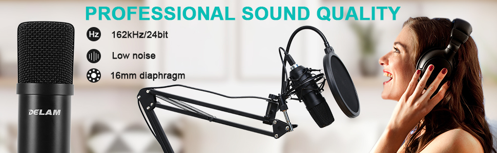 professional sound quality streaming microphone