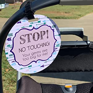 No touching baby car seat sign, newborn gift, preemie gift, car seat sign, stroller sign, dont touch