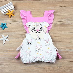 easter bunny romper bodysuit onesies toddler baby girl