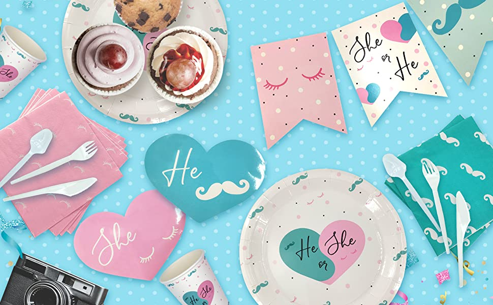 reveal baby clothes gender reveal table cloth table cloth gender reveal gender reveal cups and plate