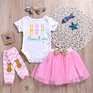 Easter tutu outfit clothes set infant baby girl