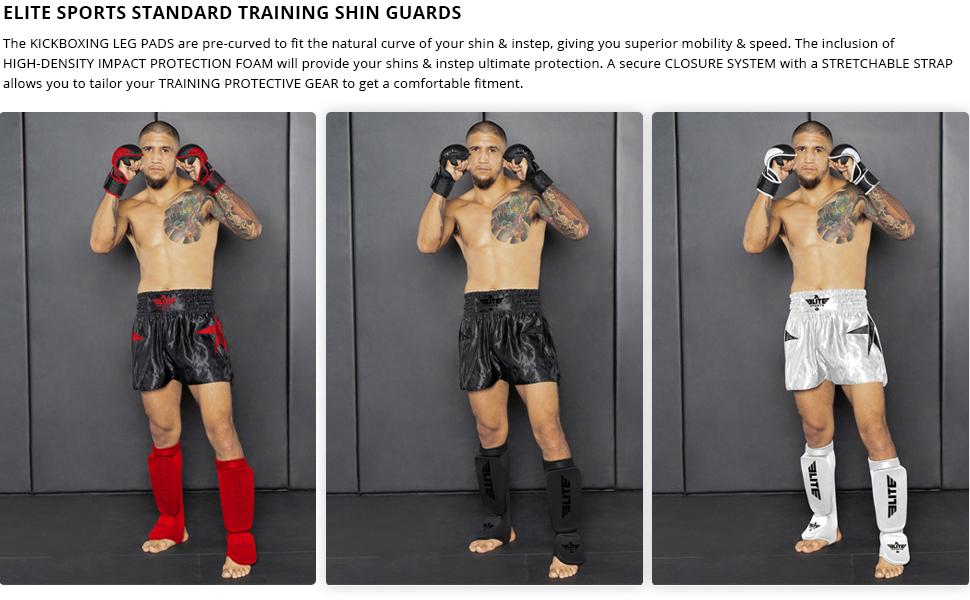Elite Sports Muay Thai MMA Kickboxing shin Guard