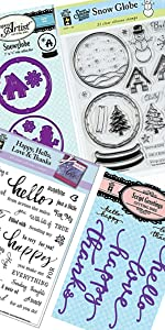 Clear Silicone Stamp & Cutting Die Set Collection