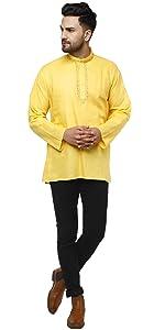 short kurta for men cotton