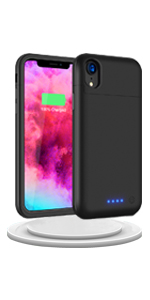 iphone xr battery case iphone xr charging case iphone battery slim charger case  black xr battery