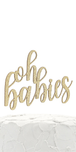 gold oh babies cake topper
