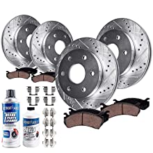 front rear rotors brake pads envoy trailblazer